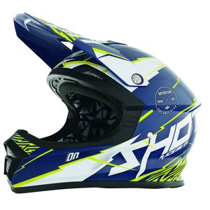 Casque cross Shot FURIOUS INFINITY BLEU JAUNE 2017