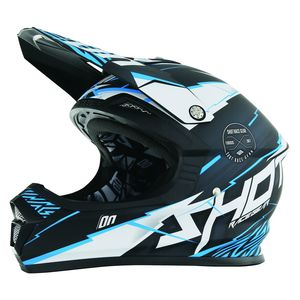 Casque cross Shot FURIOUS INFINITY BLEU MAT ENFANT 2017