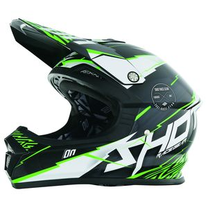 Casque cross Shot FURIOUS INFINITY VERT ENFANT 2017