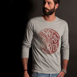 T-shirt manches longues Gentlemen's Factory CASQUE BORN TO RIDE