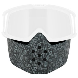 Ecran casque Shark MASQUE POUR CASQUE RAW- ALL OVER Gris