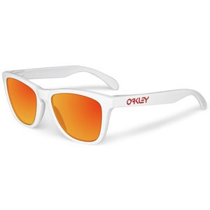 Lunettes de soleil Oakley FROGSKINS POLISHED WHITE RUBY IRIDIUM