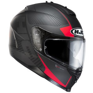 Casque Hjc IS 17 - MISSION Noir Mat/Rouge