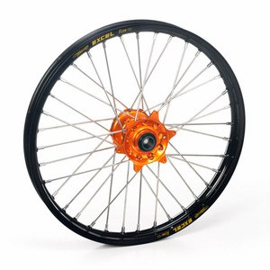 Roue Haan Wheels avant dimension 21x1.60 Noir/Orange
