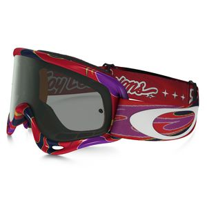 XS O FRAME MX  - TROY LEE DESIGNS REFLECTION ORANGE PURPLE LENS DARK GREY