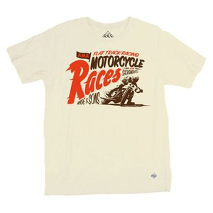 T-shirt manches courtes RIDE AND SONS MOTORCYCLES RACES Beige