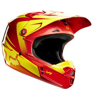 Casque cross Fox Déstockage V1 YOUTH IMPERIAL 2015 RED/YELLOW