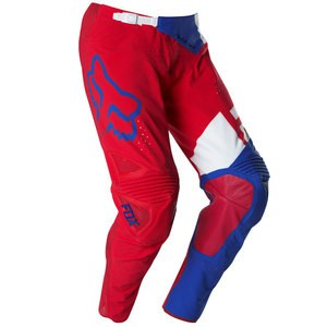 Pantalon cross Fox Déstockage FLEXAIR LIBRA PANT BLUE/RED GLEN HELEN