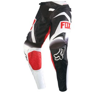 Pantalon cross Fox Déstockage 360 SHIV AIRLINE PANT BLACK/WHITE 2016