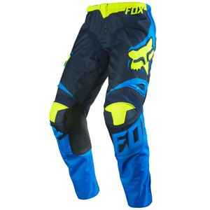 Pantalon cross Fox Déstockage 180 RACE PANT BLUE YELLOW ENFANT 2016