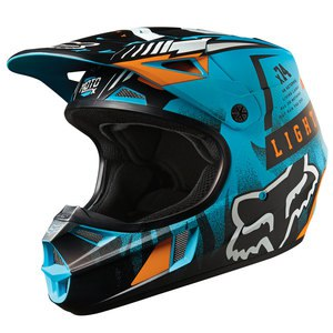 Casque cross Fox V1 VICIOUS AQUA ENFANT 2016