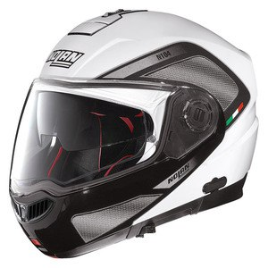 Casque Nolan N104 ABSOLUTE - TECH N-COM METAL WHITE