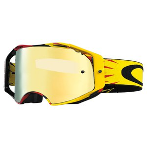 Masque cross Oakley Déstockage AIRBRAKE MX - HIGH VOLTAGE RED YELLOW IRIDIUM
