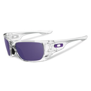 Lunettes de soleil Oakley STYLE SWITCH POLISHED CLEAR WITH VIOLET IRIDIUM