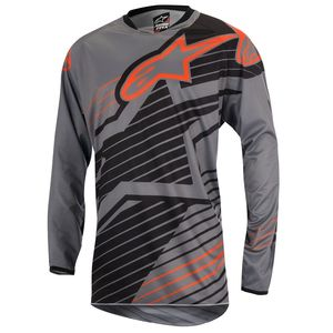 Maillot cross Alpinestars RACER BRAAP DARK GRAY BLACK ORANGE FLUO 2017