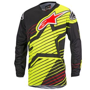 Maillot cross Alpinestars RACER BRAAP YELLOW FLUO BLACK 2017