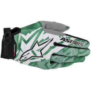 Gants cross Alpinestars Racer Glove Vert/Noir 2014