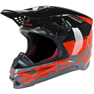 SUPERTECH S-M8 RED FLUO BLACK MID GRAY GLOSSY