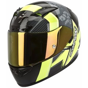 Casque Scorpion Exo EXO-710 AIR - CRYSTAL NOIR/JAUNE