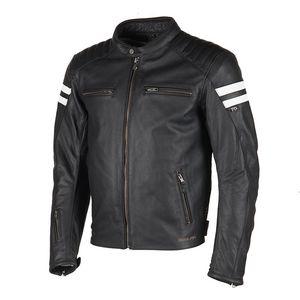 Blouson moto cuir etanche homme