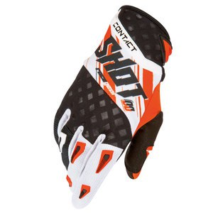 Gants cross Shot Déstockage CONTACT GENESIS GLOVE ORANGE 2016