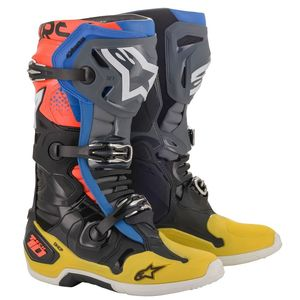 TECH 10 - BLACK YELLOW BLUE RED FLUO