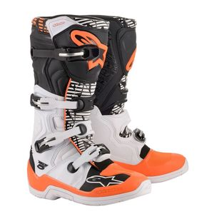 TECH 5 - WHITE BLACK ORANGE FLUO