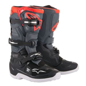 TECH 7 ENDURO BLACK GRAY RED FLUO