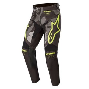 YOUTH RACER TACTICAL - BLACK GRAY CAMO YELLOW FLUO