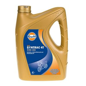 Huile moteur Gulf Syntrac 4T 5W40 4 LITRES