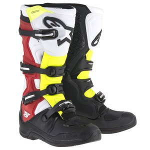TECH 5 BLACK WHITE RED YELLOW FLUO