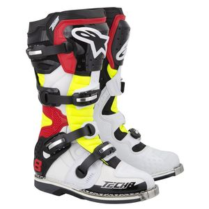 Bottes cross Alpinestars TECH 8 RS WHITE YELLOW RED