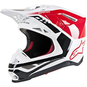 SUPERTECH S-M8 TRIPLE RED WHITE GLOSSY