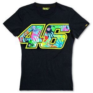 T-shirt manches courtes VR 46 BLUE WOMEN