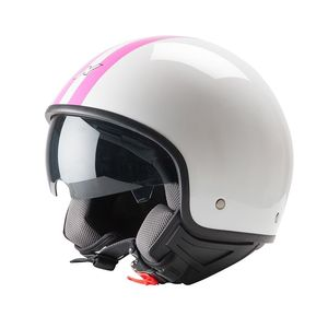 Casque Dexter X-RIDE - STRIPE - BLANC/ROSE