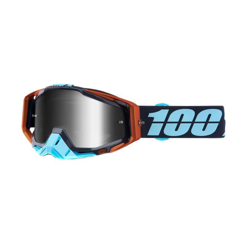 Masque cross 100% RACECRAFT - ERGONO - ECRAN IRIDIUM ARGENT 2020