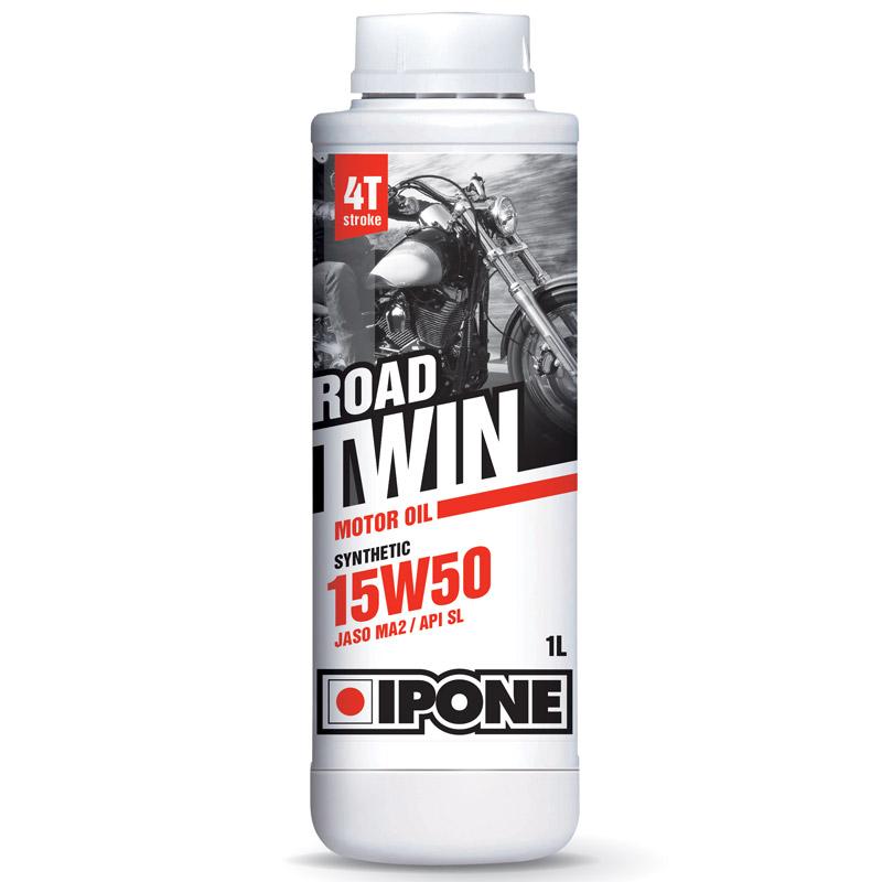 huile moteur ipone road twin 15w50 1 litre huiles lubrifiants. Black Bedroom Furniture Sets. Home Design Ideas