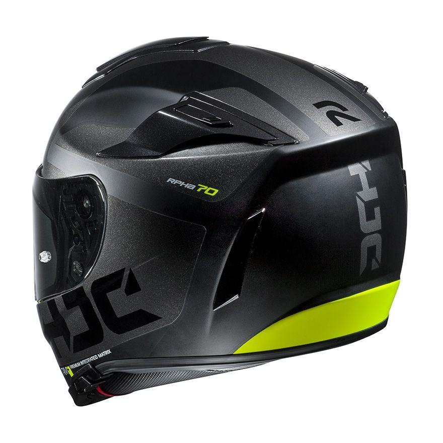 Noir//Fluo XS Casque moto HJC RPHA 70 PINOT MC4SF