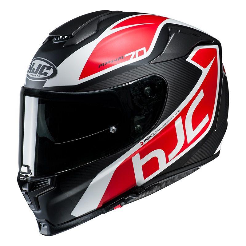 M Schwarz//Weiss//Rot Motorradhelm HJC RPHA 70 BALIUS MC10SF