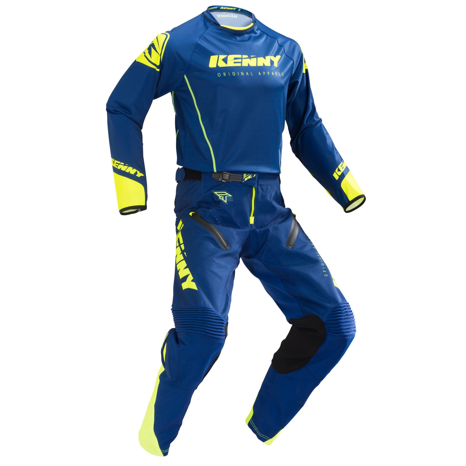 Pantalon cross Kenny TITANIUM NAVY NEON YELLOW 2019