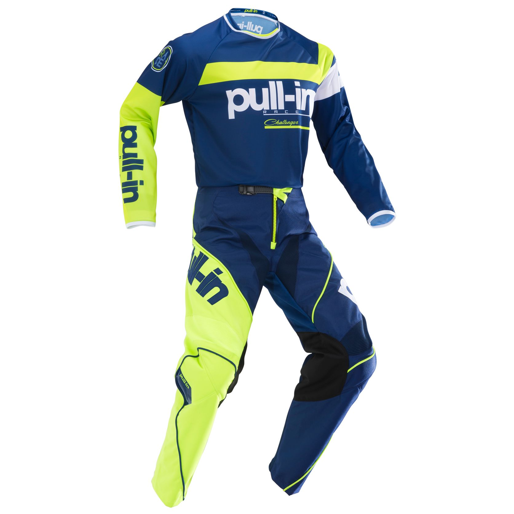 Maillot cross Pull-in RACE NAVY LIME 2019