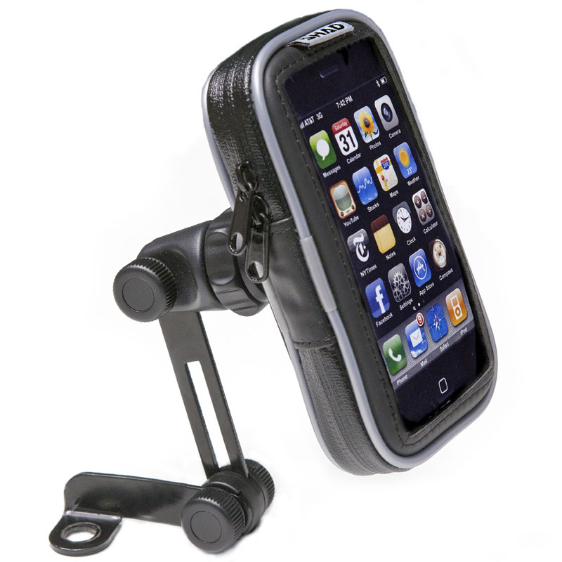 Support shad smartphone sg10 pour r troviseur high tech moto for Porte telephone moto