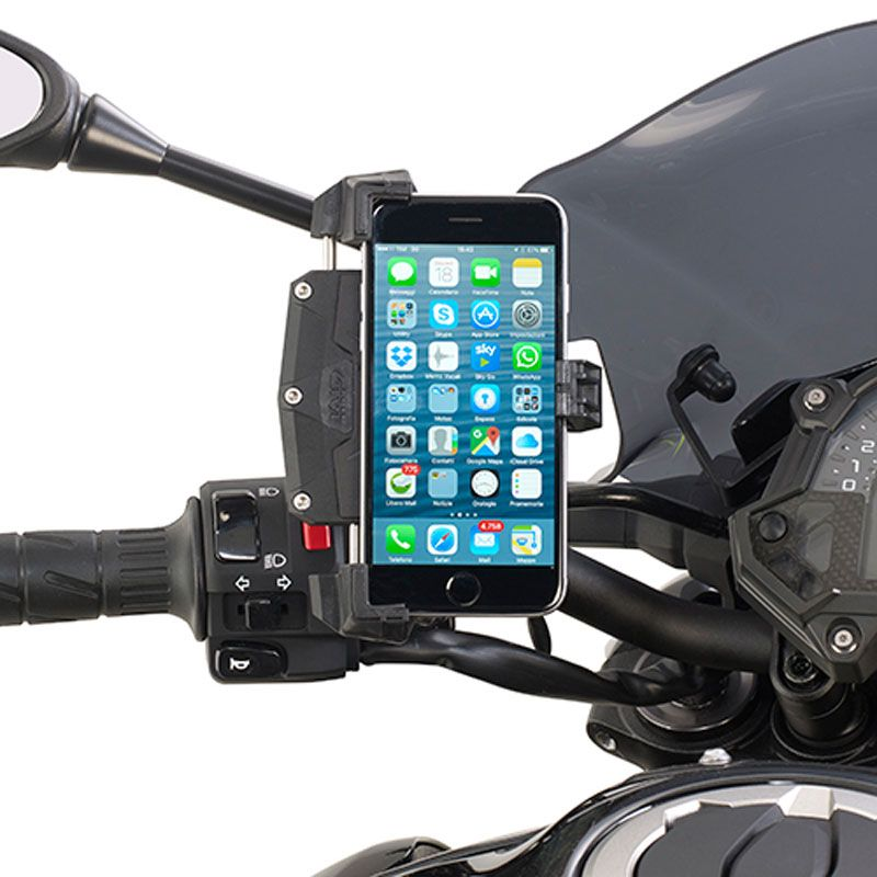 Support Smartphone Pince Givi Smartclip Route Balade Moto Scooter Gps Portable