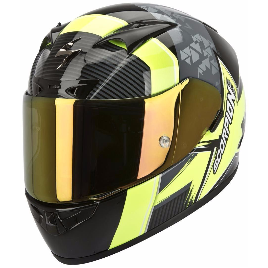 casque scorpion exo exo 710 air crystal noir jaune casque int gral. Black Bedroom Furniture Sets. Home Design Ideas