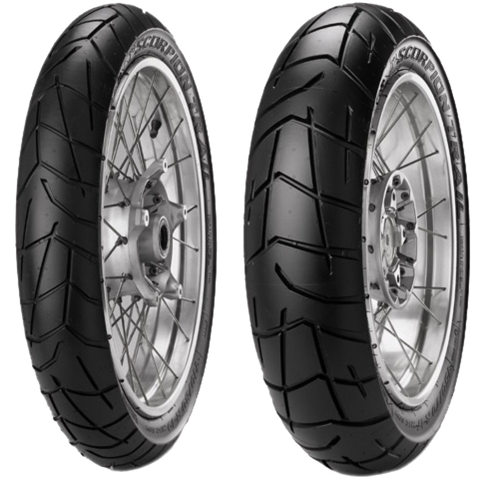 pneumatique pirelli scorpion trail 100 90 19 57v tl pneus roues. Black Bedroom Furniture Sets. Home Design Ideas