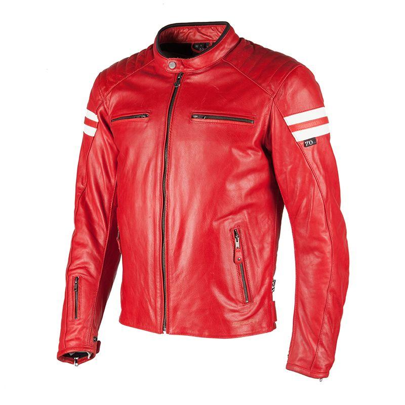 blouson segura retro rouge blanc blouson et veste. Black Bedroom Furniture Sets. Home Design Ideas