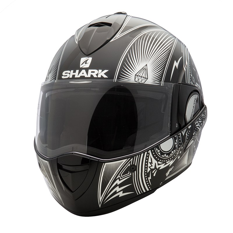 casque shark evoline serie 3 mezcal chrome casque modulable. Black Bedroom Furniture Sets. Home Design Ideas