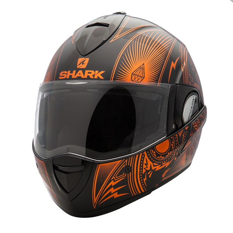 casque shark evoline serie 3 mezcal chrome vendre casque modulable. Black Bedroom Furniture Sets. Home Design Ideas
