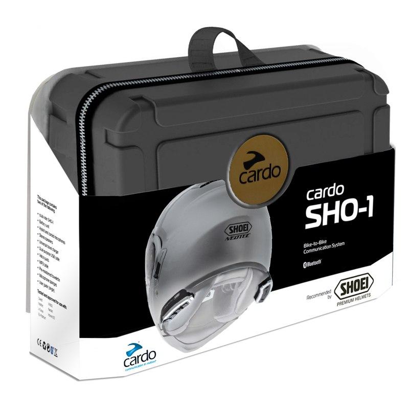 Kit mains libres cardo bluetooth pour casque shoei sho 1 - Casque moto bluetooth integre ...