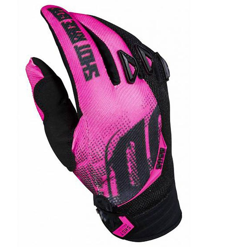 Gants cross Shot destockage DEVO VENOM NEON PINK ENFANT